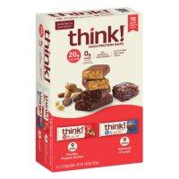 thinkThin High Protein Bars, Chunky Peanut Butter & Brownie Crunch, 2.1 oz Bar (18 ct.)