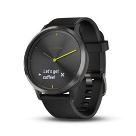 Garmin vívomove HR Smartwatch (Black) with Slate Hardware