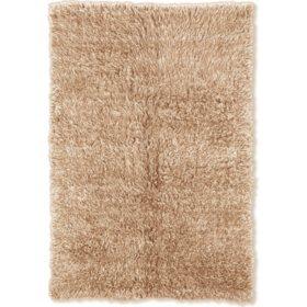Flokati New Shag Rug, Tan (Assorted Sizes)