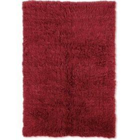 Flokati New Shag Rug, Red (Assorted Sizes)