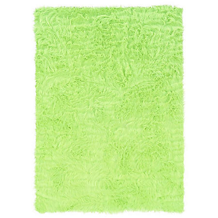Faux Sheepskin Rug, Green (Assorted Sizes)