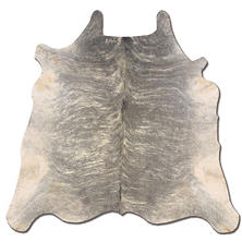 Natural Cowhide Rug, Light Brindle