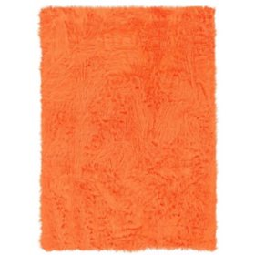 Faux Sheepskin Rug, Orange (Assorted Sizes)