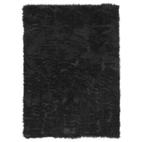 Faux Sheepskin Rug, Brown (Assorted Sizes)