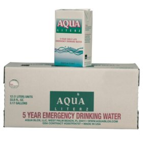 Aqua Blox Emergency Drinking Water (33.8 oz., 12 ct.)