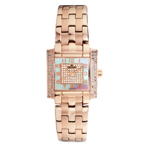 Croton 0.75 ct. t.w. Diamond with Mother of Pearl Watch in Rose Gold and Stainless Steel