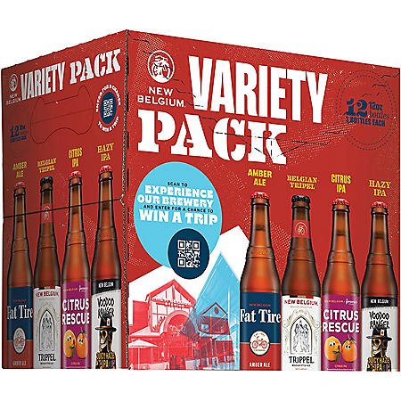 New Belgium Folly Variety Pack Beer (12 fl. oz. bottle, 12 pk.)