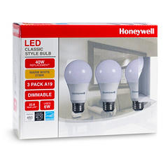 Honeywell 6 Watt A19 LED Bulb Set (3-pack)