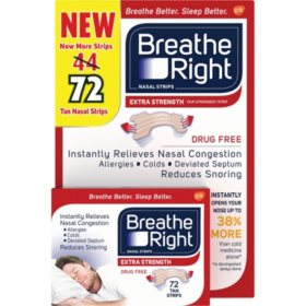 Breathe Right Nasal Strips, Tan (72 ct.)