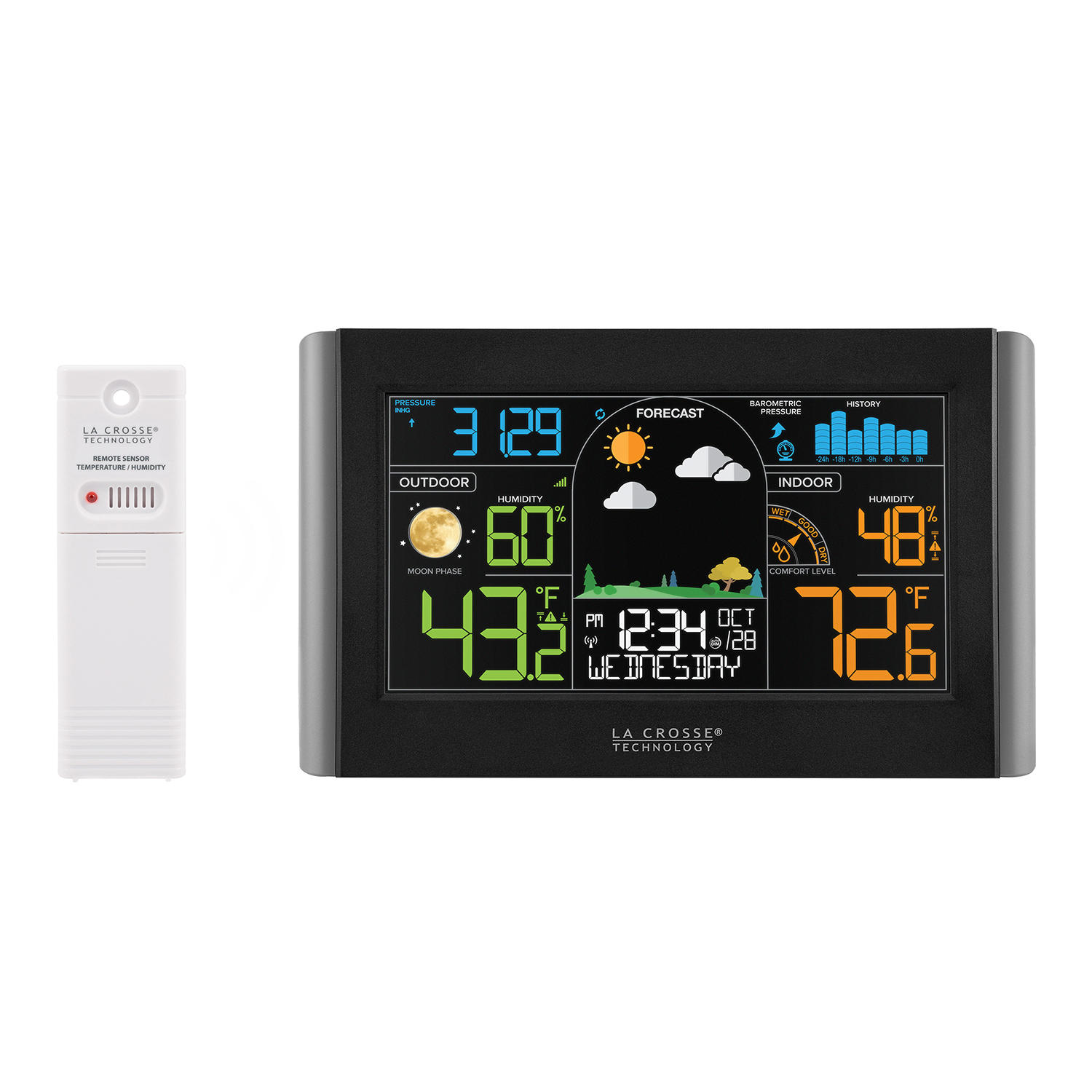 La Crosse Technology S77925-INT Wireless Weather Station with Atomic Time & Date