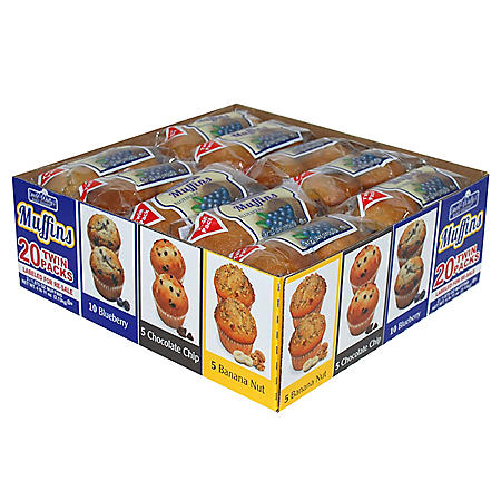 Uncle Wally's Variety Twin-Pack Muffins (20 ct.)