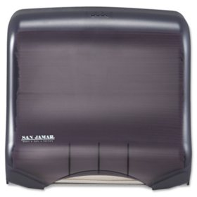 San Jamar Classic Mini C-Fold & Multi-Fold Dispenser, Translucent Black