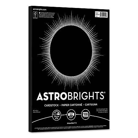 "Astrobrights Colored Cardstock, 8.5"" x 11"", 65 lb/176 gsm, Eclipse Black, 100 Sheets"
