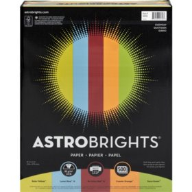 "Astrobrights Color Paper, 24 lb., 8.5"" x 11"", ?Everyday? 5-Color Assortment, 500 Sheets"