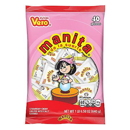 Dulces Vero Manita de la Suerte Lollipops (22.58oz.)