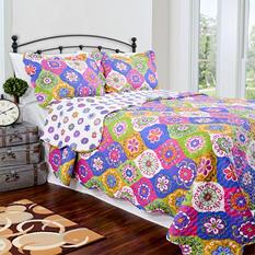 Vintage Classics Collection Lena Multi Colored Quilt Set