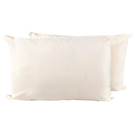 Allergy Alleviator Organic Cotton Bed Pillows, 2-pack