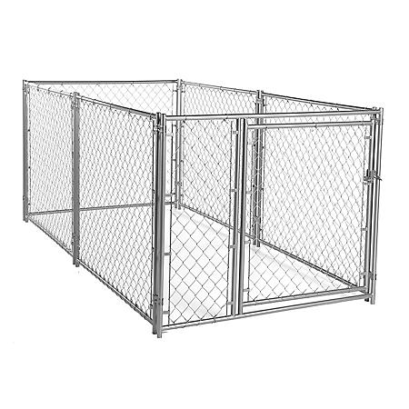 Lucky Dog Modular Chain Link Kennel Kit - 10'L x 5'W x 4'H