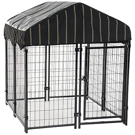 "Lucky Dog Pet Resort Kennel with Cover (4'W x 4'L x 52""H)"