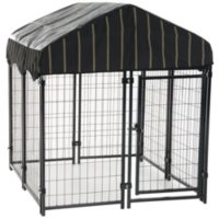 """Lucky Dog Pet Resort Kennel with Cover (4'W x 4'L x 52""""H)"""
