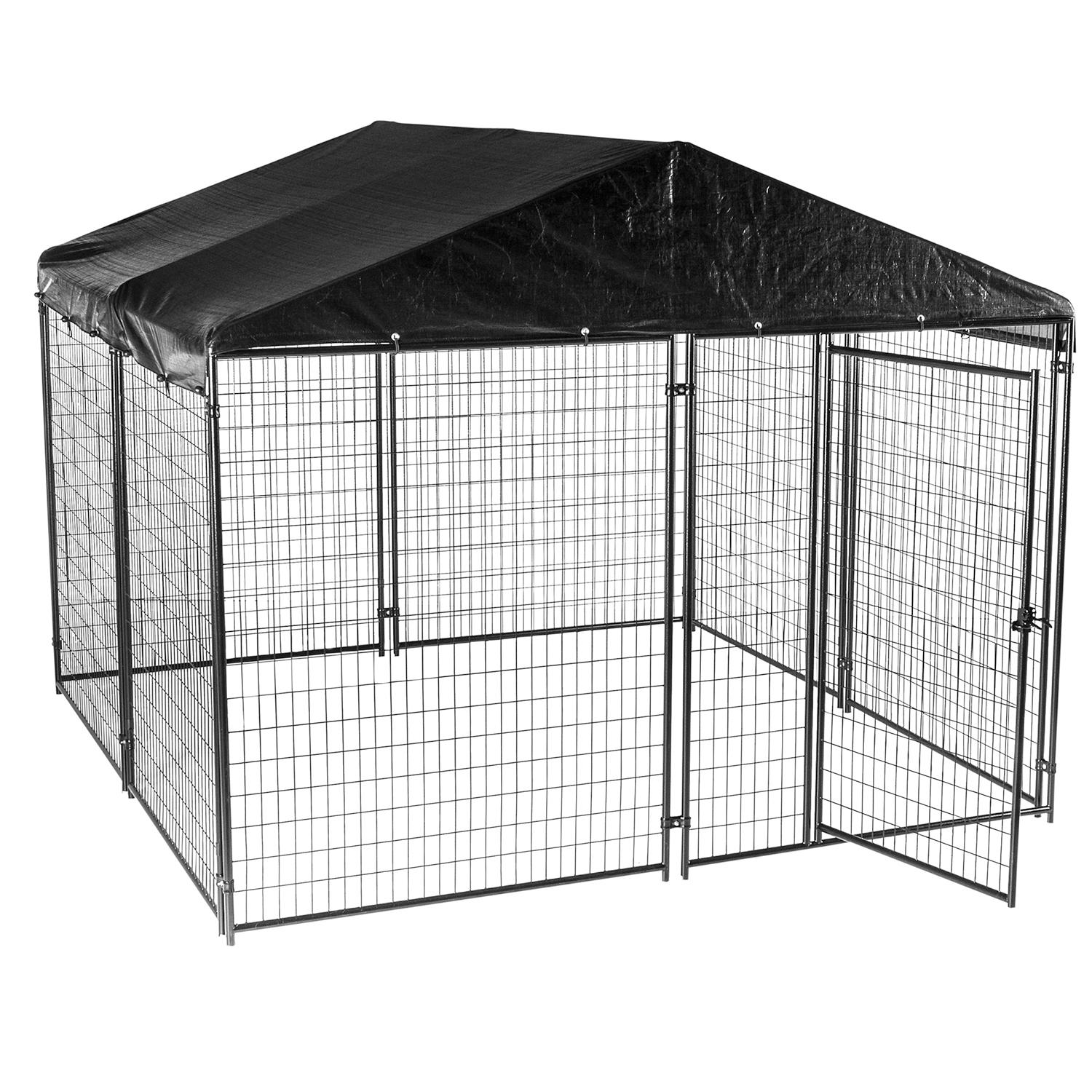 Lucky Dog Black Modular Kennel with Waterproof Cover