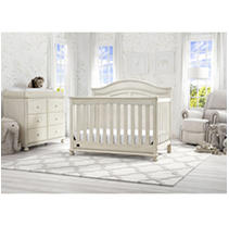 Simmons Kids Bedford 5-Piece Baby Furniture Set, Antique White