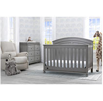 Simmons Kids Ainsworth 5-Piece Baby Furniture Set, Storm