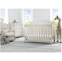 Simmons Kids Ainsworth 5-Piece Baby Furniture Set, Antique White