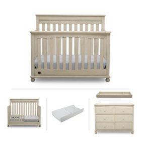 Simmons Kids Franklin 5-Piece Nursery Furniture Set (Choose Your Color)