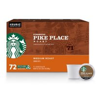 Deals on 72-Ct Starbucks Pike Place Coffee Keurig K-Cup Pods