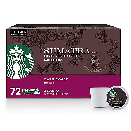Starbucks Single-Origin Sumatra Coffee K-Cups (72 ct.)