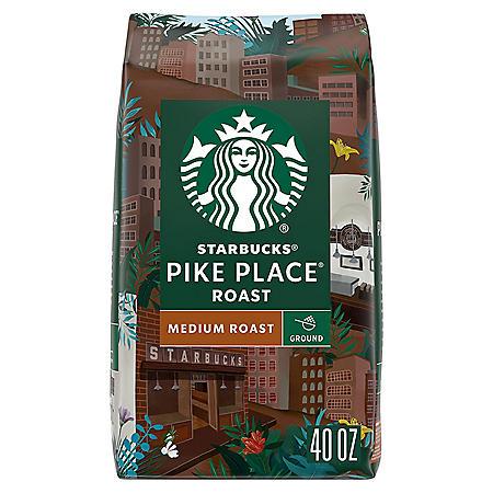 Starbucks Pike Place Medium Roast Ground Coffee (40 oz.)