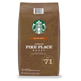 Starbucks Pike Place Medium Roast Ground Coffee (40 oz.)