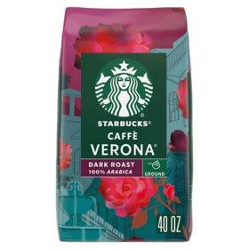 Starbucks Caffe Verona Ground Coffee, Dark Roast (40 oz.)