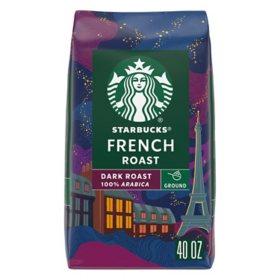 Starbucks Dark French Roast Ground Coffee (40 oz.)