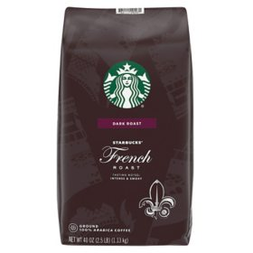 Starbucks Dark French Roast Ground Coffee (40 oz.)