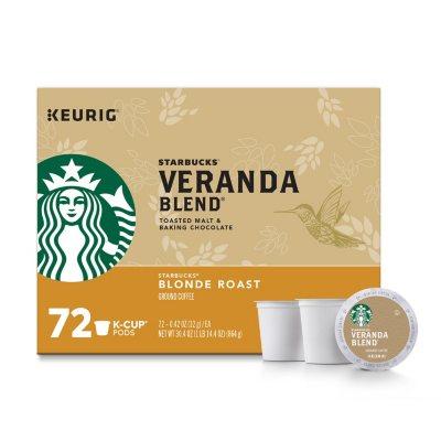 Starbucks Veranda Blend Ground Coffee Blonde Roast K Cups 72 Ct Sam S Club