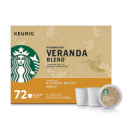 Starbucks Veranda Blend Ground Coffee, Blonde Roast K-Cups (72 ct.)
