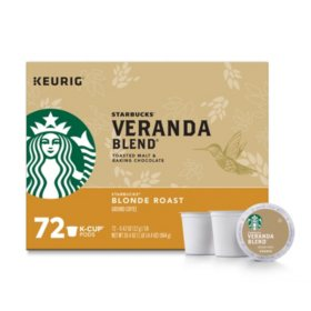 Starbucks Veranda Blend Ground Coffee, Blonde Roast (72 K-Cups)