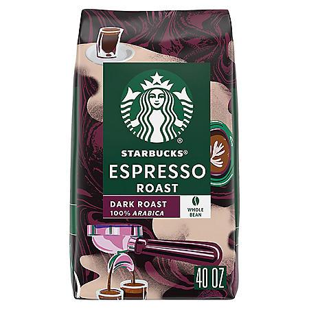 Starbucks Whole Bean Coffee, Espresso Roast Dark (40 oz.)