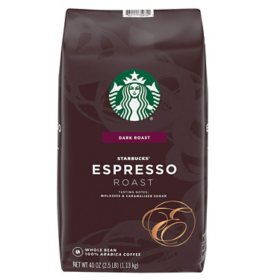 Starbucks Whole Bean Coffee, Espresso Roast Dark (40 oz.)