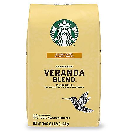 Starbucks Blonde Roast Ground Coffee, Veranda Blend (40 oz.)