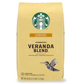 Starbucks Blonde Roast Ground Coffee, Veranda Blend (40 oz.)