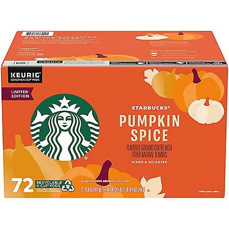 Starbucks Coffee K-Cups, Pumpkin Spice (72 ct.)