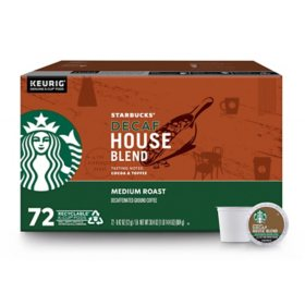 Starbucks Decaf Medium Roast K-Cups, House Blend (72 ct.)