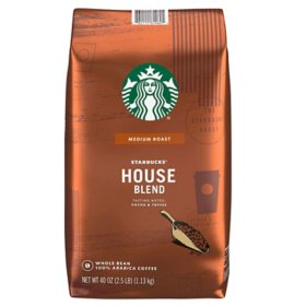 Starbucks House Blend Whole Bean Coffee (40 oz.)