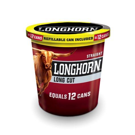 Longhorn Long Cut Straight Snuff (14.4 oz. tub)