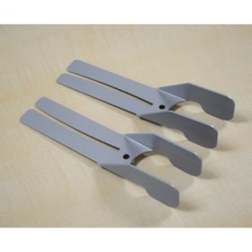 Antimicrobial Brackets to DIY a Panel Extension Shield (3 Sets)