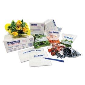 "Inteplast Group Food Bags, 22 qt., 0.85 mil, 10"" x 24"", Clear (500 ct.)"