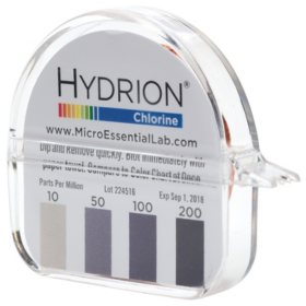 Hydrion CM-240 Micro Chlorine Test Paper (10-200 PPM)